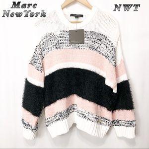 NWT-Marc NewYork Black white Blush sweater M